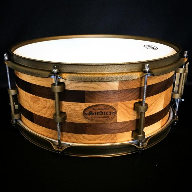 price drop new oak and walnut segmented shell snare drum by sindica custom drums reverb. Black Bedroom Furniture Sets. Home Design Ideas