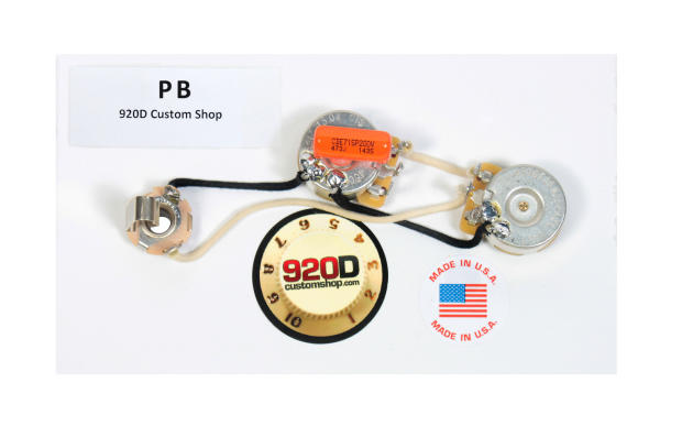 920d custom shop fender precision p bass wiring harness w knurled knobs chrome reverb