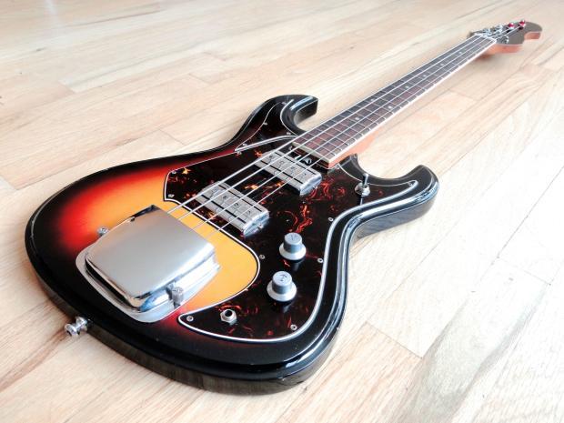 1960s teisco vintage electric bass guitar sunburst german carve bison japan reverb. Black Bedroom Furniture Sets. Home Design Ideas