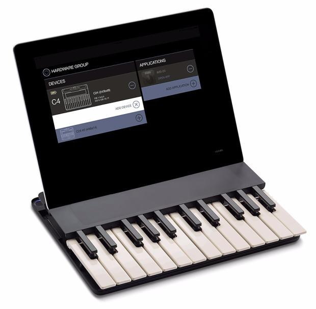 miselu c24 wireless bluetooth piano keyboard controller for ipad iphone new in box image. Black Bedroom Furniture Sets. Home Design Ideas