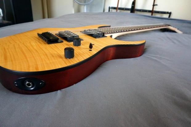ibanez rg6003fm electric guitar rg flamed maple top fixed bridge vintage natural flat 24 frets. Black Bedroom Furniture Sets. Home Design Ideas