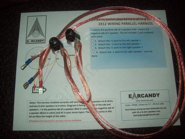 earcandy 2x12 guitar or bass amp speaker cab parallel ... series parallel wiring diagram parallel wiring harness #4