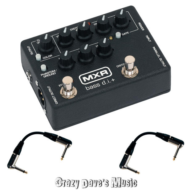 dunlop mxr m80 bass di d i plus direct box pedal with 2 patch cables image. Black Bedroom Furniture Sets. Home Design Ideas