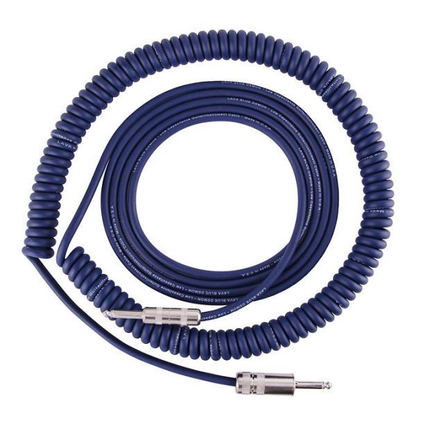 lava split coil instrument cable 30 39 straight straight blue demon image. Black Bedroom Furniture Sets. Home Design Ideas