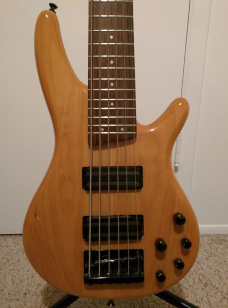 ibanez 6 string bass with lace alumitone pickups made in korea sound gear sdgr 406 mik reverb. Black Bedroom Furniture Sets. Home Design Ideas