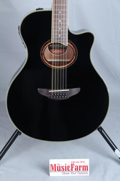 yamaha apx 700 12 string acoustic electric guitar black thinline compact body reverb. Black Bedroom Furniture Sets. Home Design Ideas