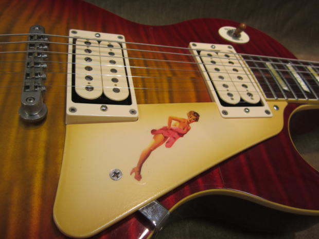 Gibson Les Paul Std Custom Shop 50 S Pin Up Girl Lacquer