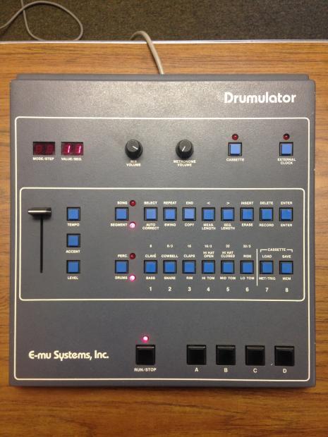 80 39 s emu drumulator drum machine reverb. Black Bedroom Furniture Sets. Home Design Ideas