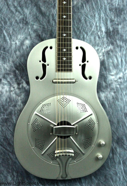 gold tone gre thinline roundneck metal body acoustic electric resonator guitar image. Black Bedroom Furniture Sets. Home Design Ideas