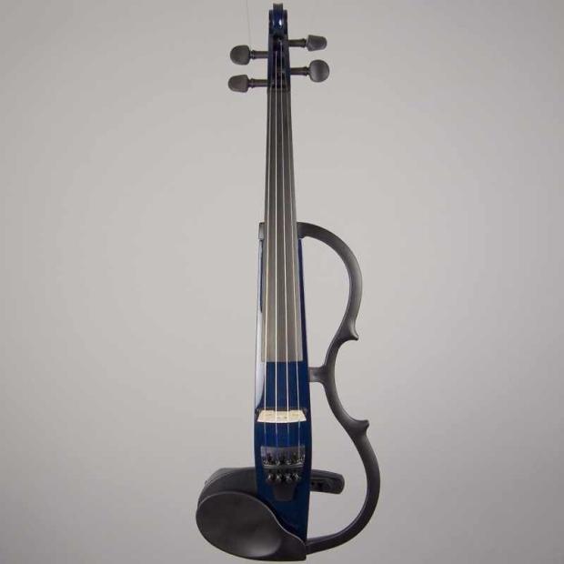 Yamaha sv 130 silent electric violin navy blue image for Yamaha electric violin