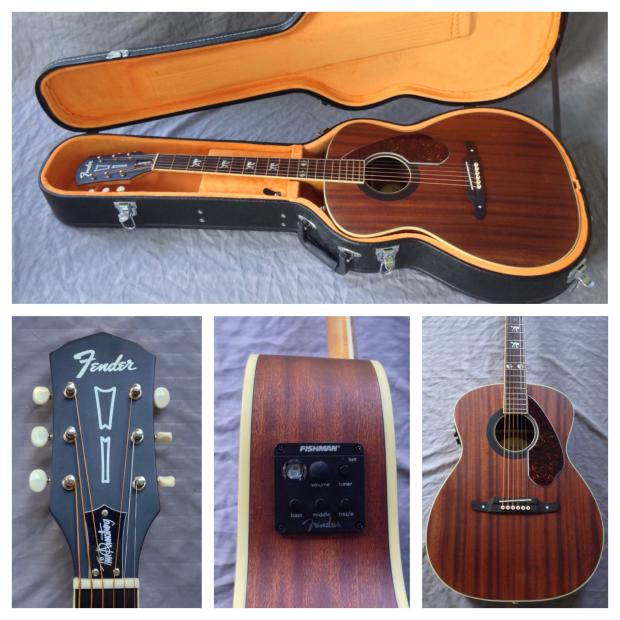 Fender tim armstrong signature hellcat acoustic electric guitar with