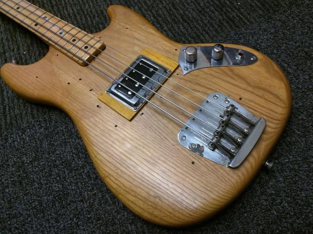 vintage 1978 fender mustang bass 1978 natural darkstar pickup reverb. Black Bedroom Furniture Sets. Home Design Ideas