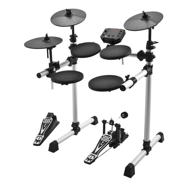 simmons sd5xpress full size 5 piece electronic drum kit sd5x sd5k black silver new and. Black Bedroom Furniture Sets. Home Design Ideas