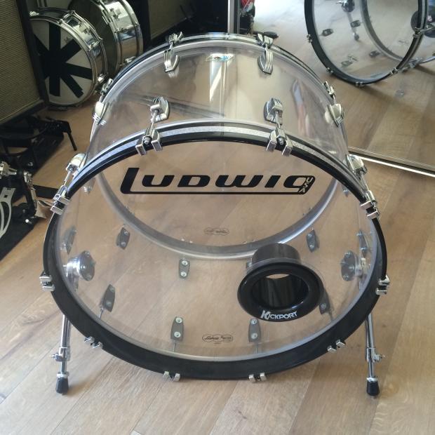 ludwig 24 inch bass drum vistalite reverb. Black Bedroom Furniture Sets. Home Design Ideas