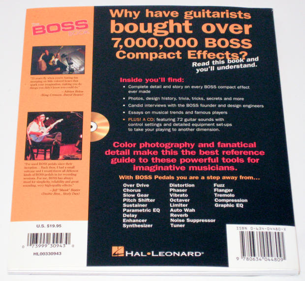 the boss book the ultimate guide to boss guitar effects pedals with audio cd reverb. Black Bedroom Furniture Sets. Home Design Ideas