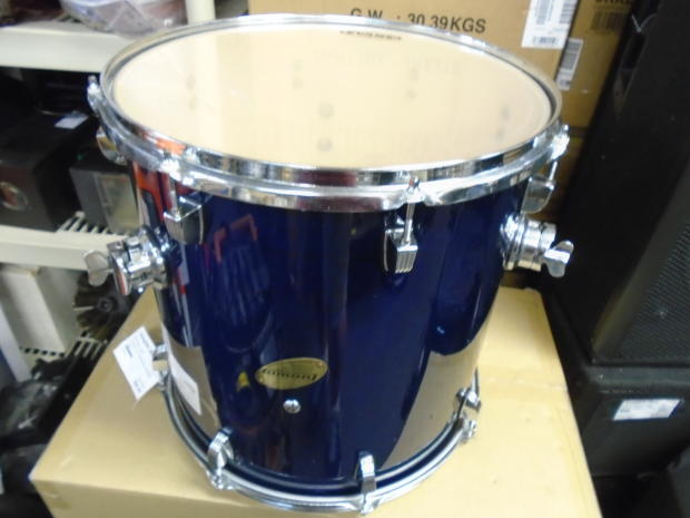 Ludwig accent 16 floor tom drum as is blue reverb for 16 floor tom drum