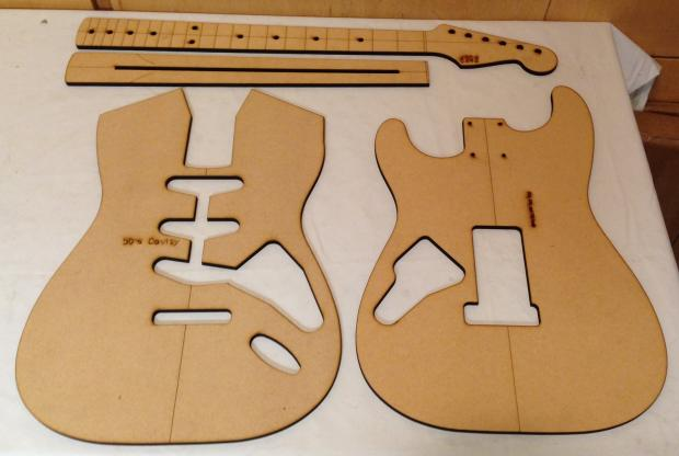 Guitar building templates 50 39 s strat routing luthier for Guitar cut out template