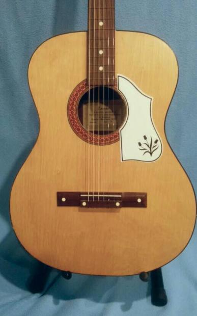 vintage cameo acoustic guitar made in holland reverb. Black Bedroom Furniture Sets. Home Design Ideas