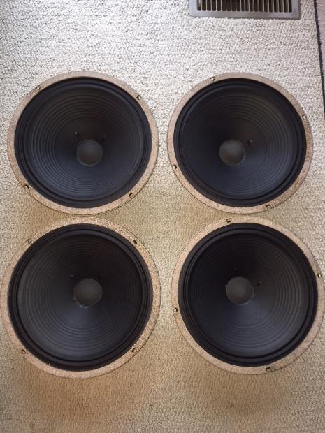 4 quad marshall celestion g12c 16 ohm 25 watt guitar amplifier speakers reverb. Black Bedroom Furniture Sets. Home Design Ideas