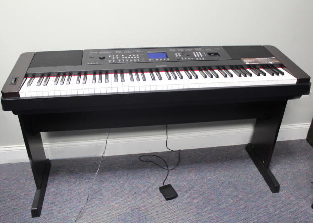 Yamaha 88 key portable grand piano keyboard weighted dgx 650b dgx650 reverb for Yamaha fully weighted keyboard