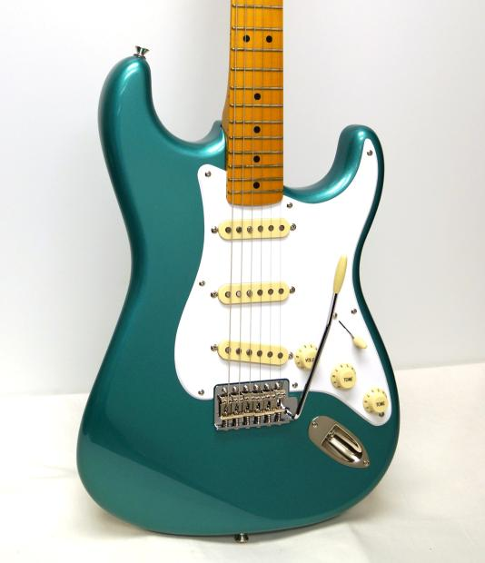 fender squier classic vibe stratocaster 39 50s electric guitar sherwood green metallic reverb. Black Bedroom Furniture Sets. Home Design Ideas