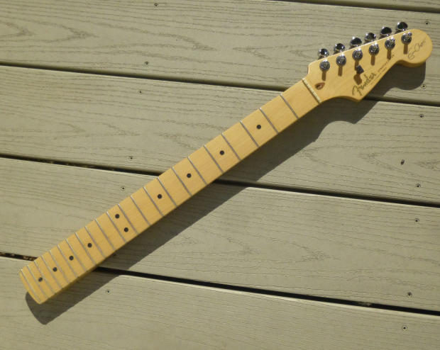 eric clapton signature stratocaster neck 2005 fender usa strat part with upgraded tuners image. Black Bedroom Furniture Sets. Home Design Ideas