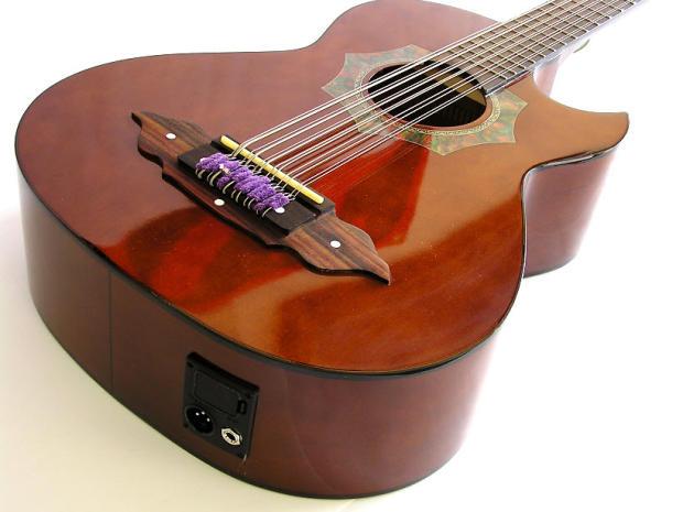 barraza bajo sexto guitar w 4 band eq 1 4 xlr reverb. Black Bedroom Furniture Sets. Home Design Ideas