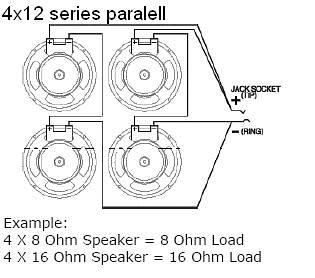 EarCandy 4x10 4x12 guitar amp speaker cab Wiring Harness 4 ...