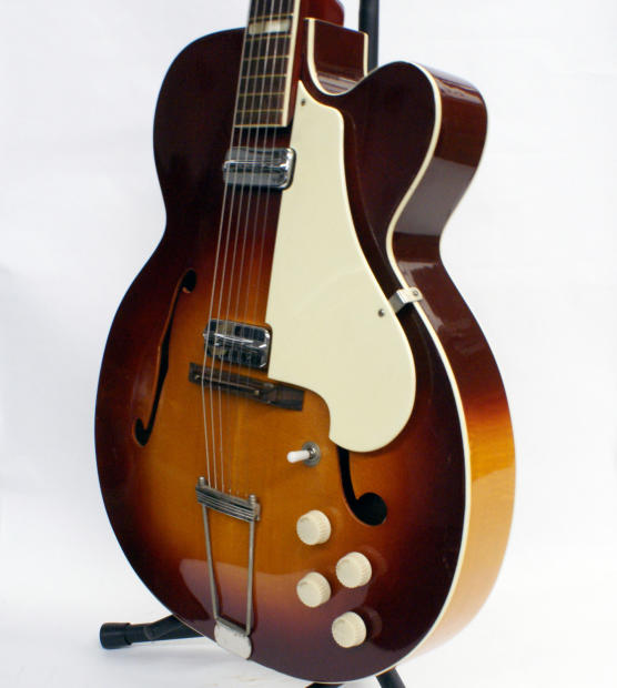vintage 1959 1961 silvertone aristocrat electric hollowbody guitar made by kay reverb. Black Bedroom Furniture Sets. Home Design Ideas