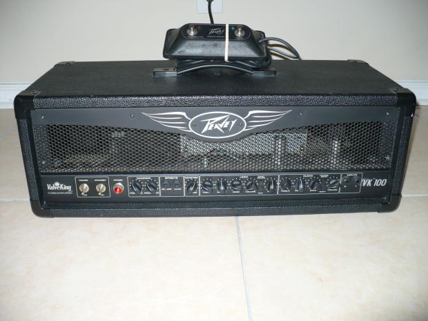 peavey valveking vk100 all tube amp head with foot switch great clean reverb. Black Bedroom Furniture Sets. Home Design Ideas
