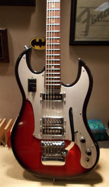 norma teisco baritone electric guitar 1970s sunburst mij upgraded parts reverb. Black Bedroom Furniture Sets. Home Design Ideas