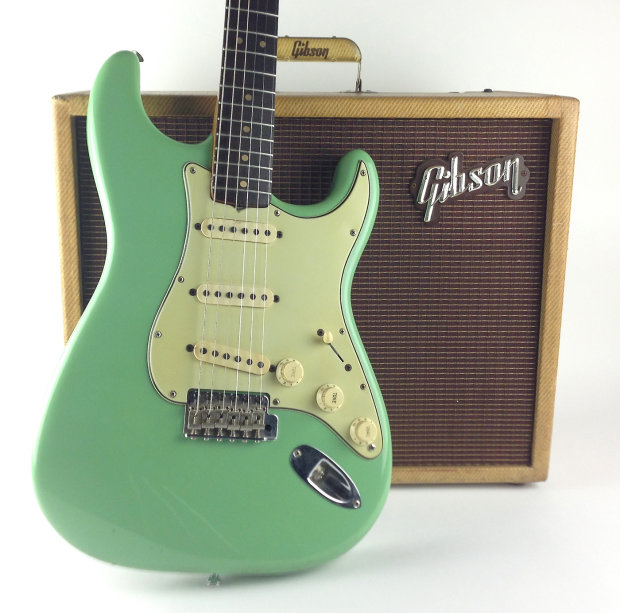1964 seafoam green stratocaster reverb