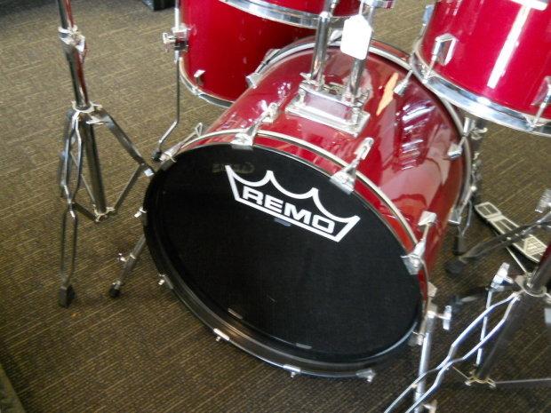 Remo Bravo 2 Complete 5 Piece Drum Kit Wine Red Reverb