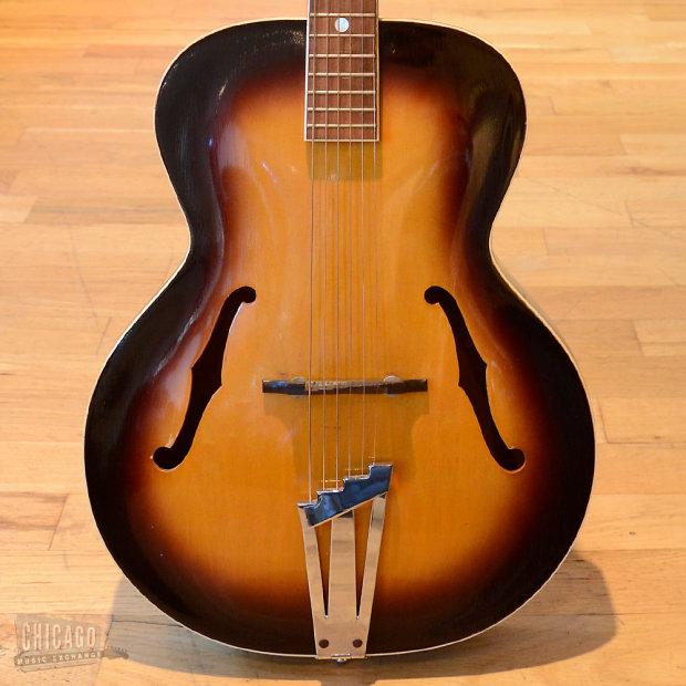 1950s silvertone acoustic guitar