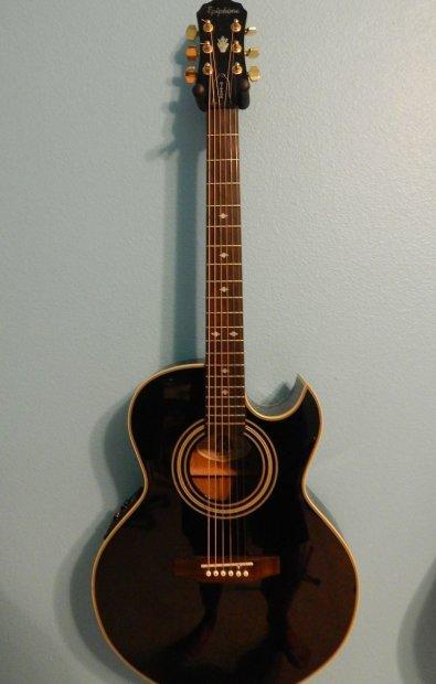 Epiphone Pr5 E Acoustic Electric Guitar Black Reverb