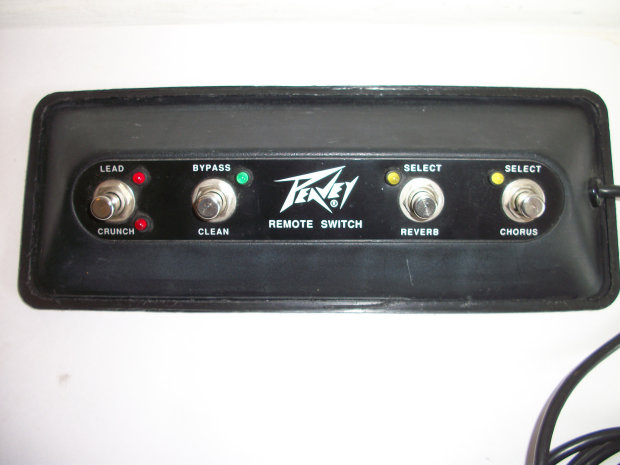 peavey stereo chorus 212 remote foot switch 7847 black reverb. Black Bedroom Furniture Sets. Home Design Ideas