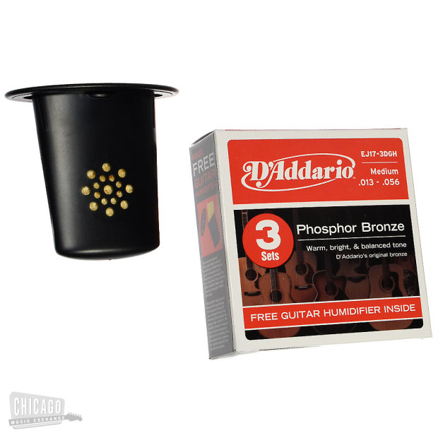 d 39 addario ej17 3d 3 pack phosphor bronze medium 13 56 w guitar humidifier reverb. Black Bedroom Furniture Sets. Home Design Ideas