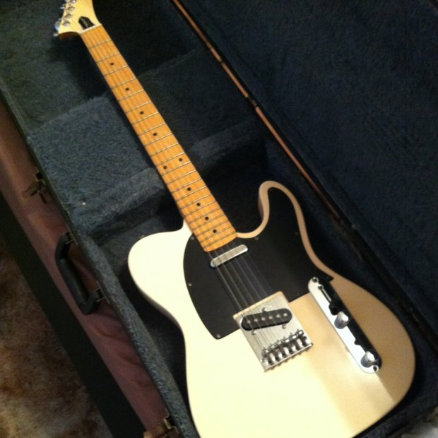 Epiphone T-310 Telecaster 1992 Ivory w/ Hard Case : Reverb