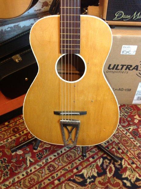 vintage harmony stella acoustic guitar natural reverb