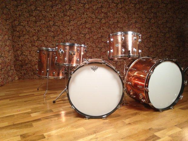 Slingerland Vintage Copper Over Wood 5 Piece Drumkit Reverb