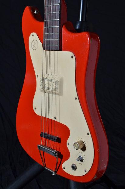 Kay K-310 1966 Red K310 Vanguard Vintage Guitar Free Stuff -6766