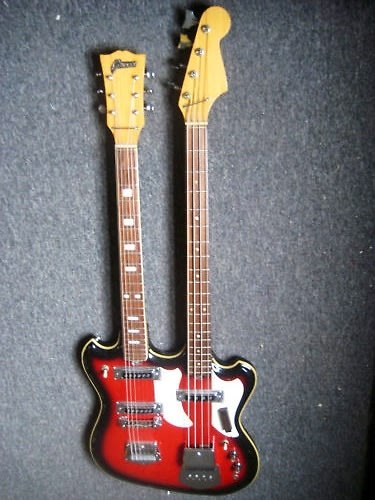 kawai telestar doubleneck bass guitar semi hollow 1968 red burst reverb. Black Bedroom Furniture Sets. Home Design Ideas