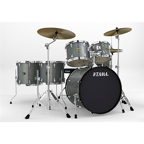 tama imperialstar complete 6 piece drum set galaxy silver reverb. Black Bedroom Furniture Sets. Home Design Ideas