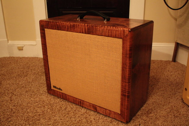 b custom cabs build to order 1x12 guitar cabinet open back red mahogany with wheat grille reverb. Black Bedroom Furniture Sets. Home Design Ideas