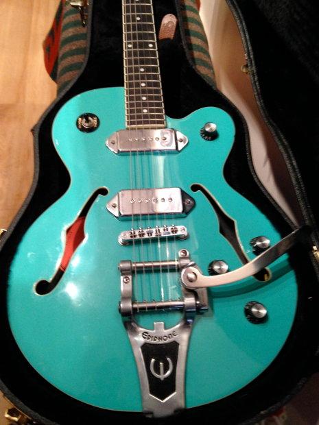 Epiphone wildkat guitar limited edition color korean made samick ohsc
