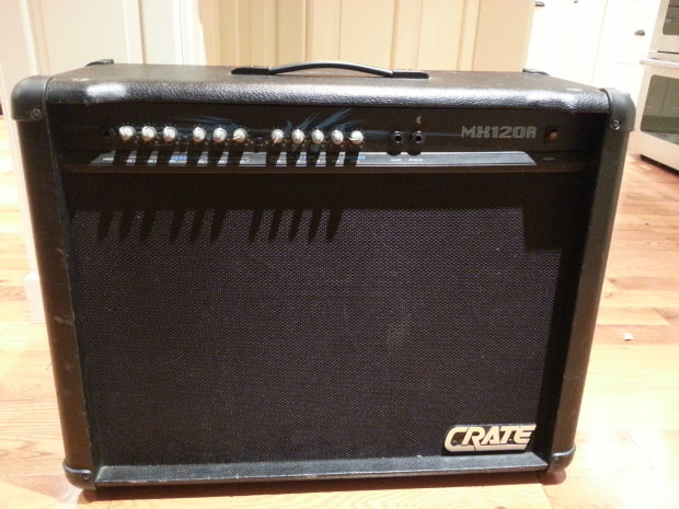 crate mx120r 2x12 electric guitar amp 120 watt solid state amplifier reverb. Black Bedroom Furniture Sets. Home Design Ideas