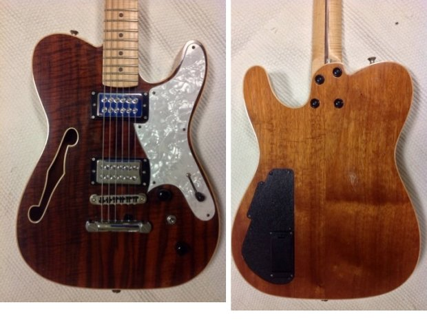 custom telecaster thinline b bender with tv jones piezo reverb. Black Bedroom Furniture Sets. Home Design Ideas