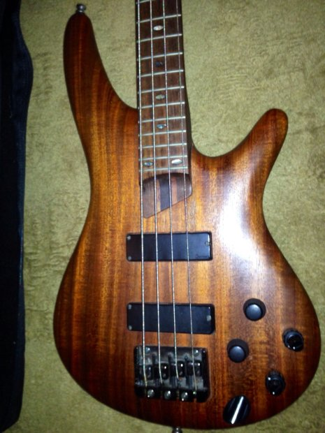 1998 ibanez sdgr electric bass guitar active electronics made in japan babinga wood reverb. Black Bedroom Furniture Sets. Home Design Ideas