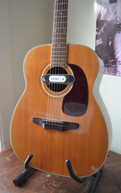 vintage 1971 harmony sovereign jumbo acoustic guitar dearmond pickup hs case reverb. Black Bedroom Furniture Sets. Home Design Ideas