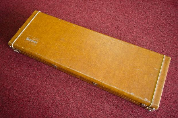 vintage 70s 80s kramer hard shell case for aluminum neck electric guitar reverb. Black Bedroom Furniture Sets. Home Design Ideas